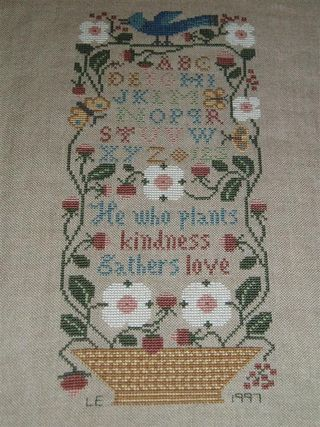 015 HE WHO PLANTS LOVE 1997 Prarie Schooler Garden Verses design (Medium)